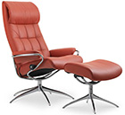 Stressless Five Star Base Recliner Chair and Ottoman