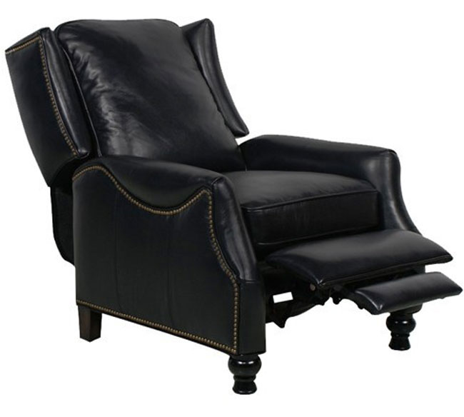 Barcalounger Ashton II Recliner Chair Pearlized Black Leather  sc 1 st  Vitalitywebb.com & Barcalounger Ashton II Recliner Chair - Leather Recliner Chair ... islam-shia.org