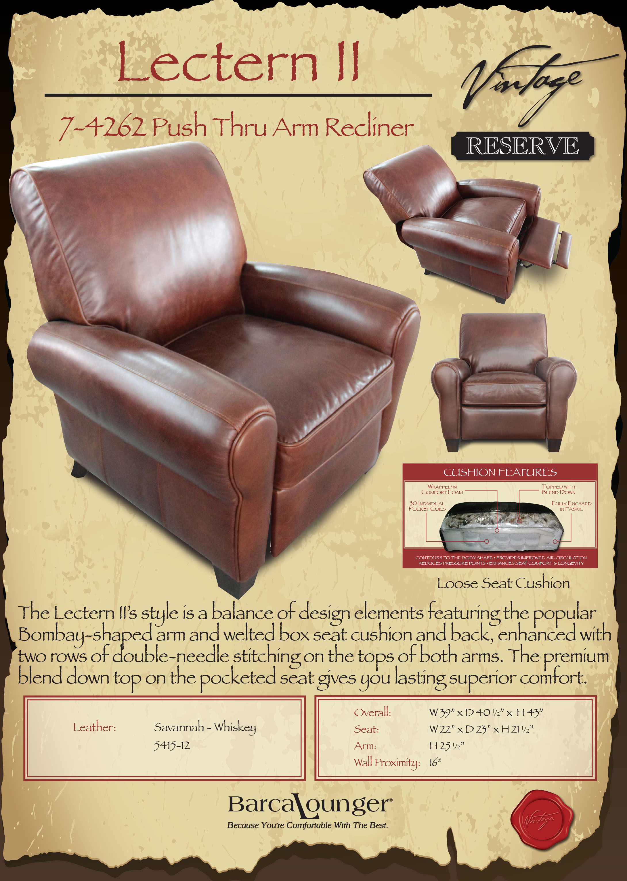 Barcalounger Lectern II Recliner Chair Dimensions & Barcalounger Lectern II Recliner Chair - Leather Recliner Chair ... islam-shia.org