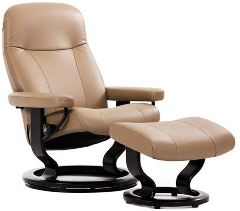 Stressless Garda Recliner Chair And Ottoman By Ekornes Garda Recliner Chair