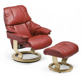 Stressless Vegas Ergonomic Recliner and Ottoman by Ekornes
