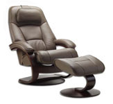Admiral Ergonomic Recliner and Ottoman by Fjords