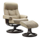 Muldal Ergonomic Recliner and Ottoman by Fjords