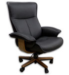 Fjords Senator Executive Leather Home Office Desk Chair