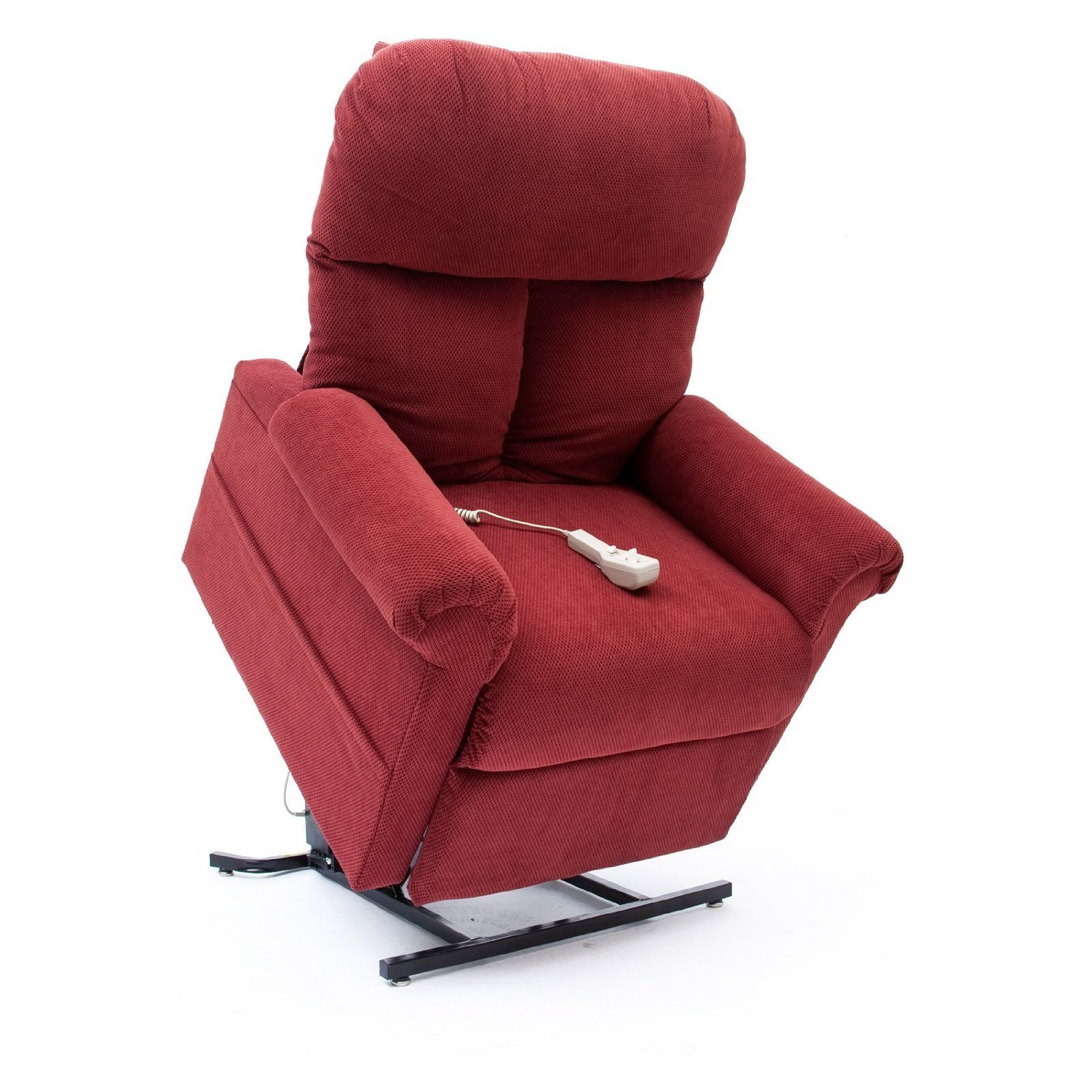 New Brandy Red Fabric Easy Comfort Lc 100 Power Lift Chair