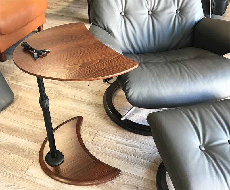 Stressless Alpha Table With Usb For Ekornes Chairs