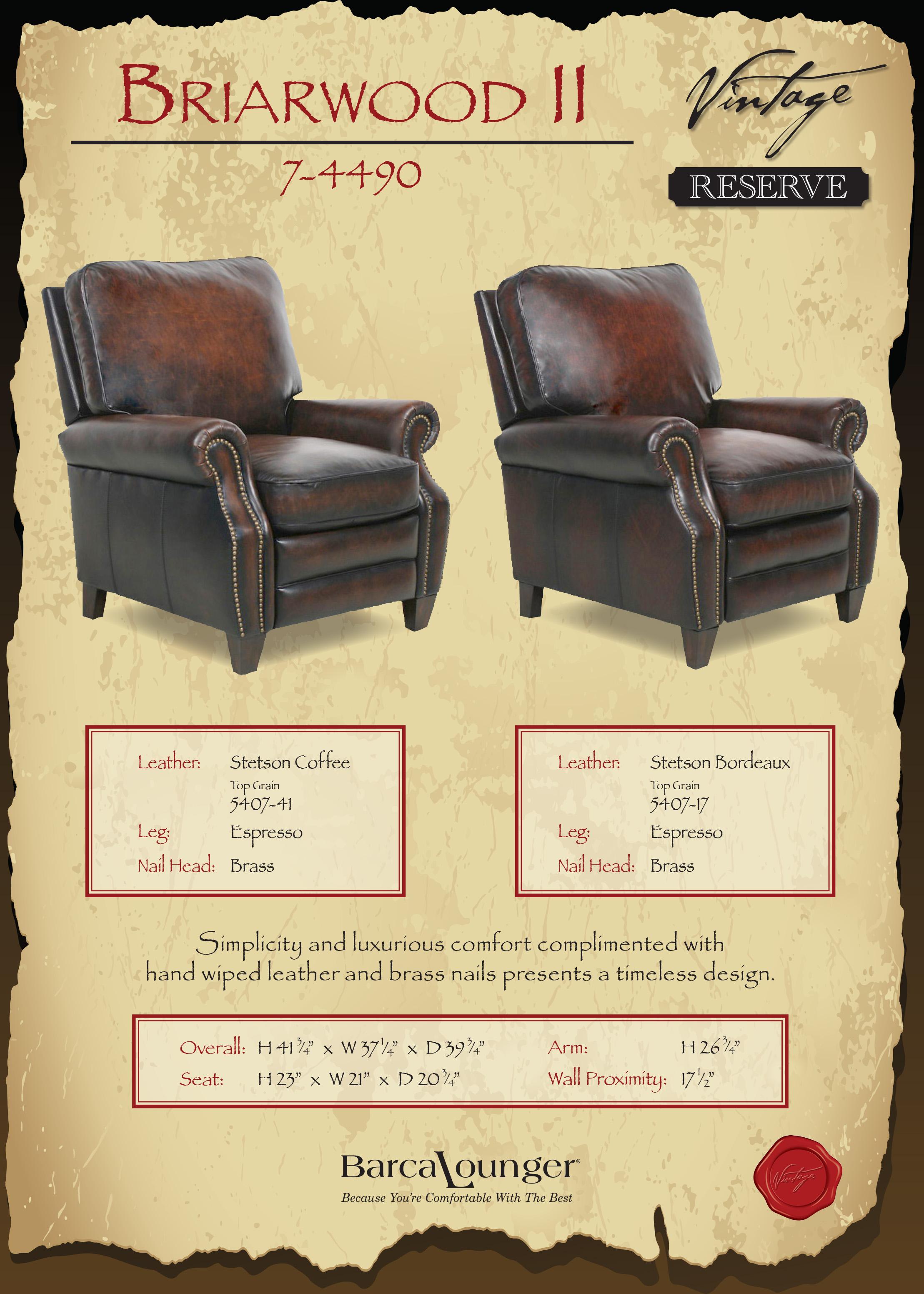 Barcalounger Briarwood II Recliner Chair Dimensions & Barcalounger Briarwood II Recliner Chair - Leather Recliner Chair ... islam-shia.org