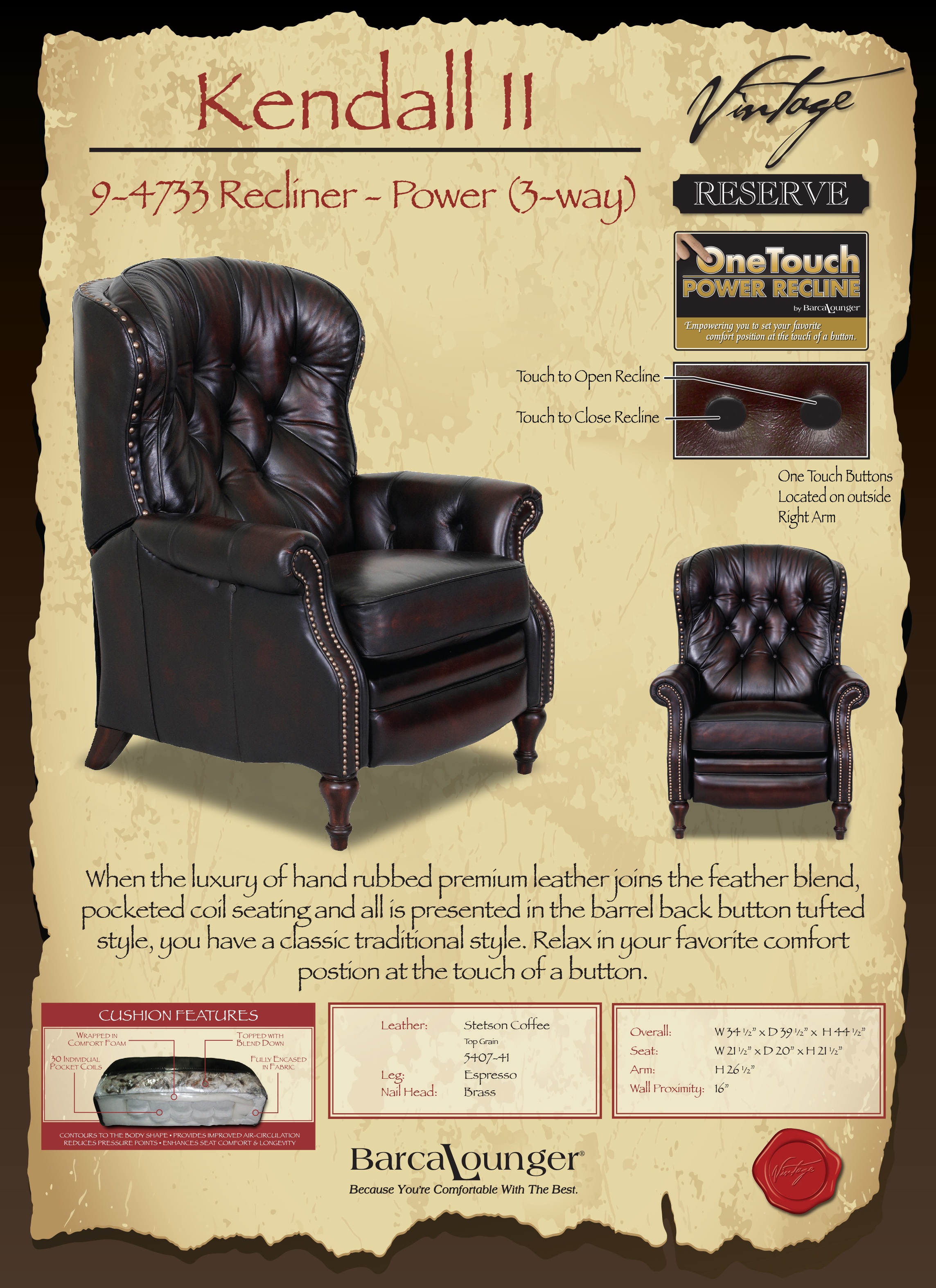 Barcalounger Kendall II Recliner Chair Colors & Barcalounger Kendall II Recliner Chair - Leather Recliner Chair ... islam-shia.org