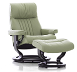 Stressless Crown Recliner Chair and Ottoman