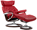 Stressless Skyline Recliner Chair and Ottoman