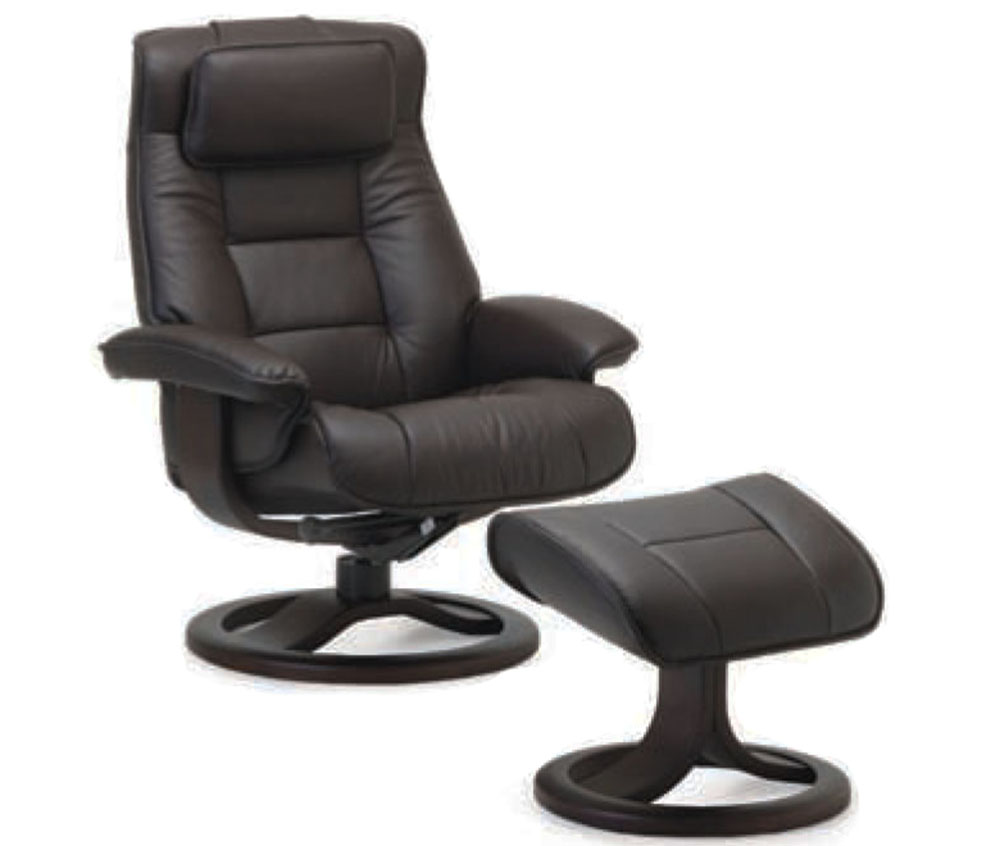Fjords Mustang Recliner Chair and Ottoman in Havana Leather  sc 1 st  Stressless Recliner Chair and Ottoman from Ekornes Human Touch Zero ... & Fjords Mustang Ergonomic Leather Recliner Chair + Ottoman ...