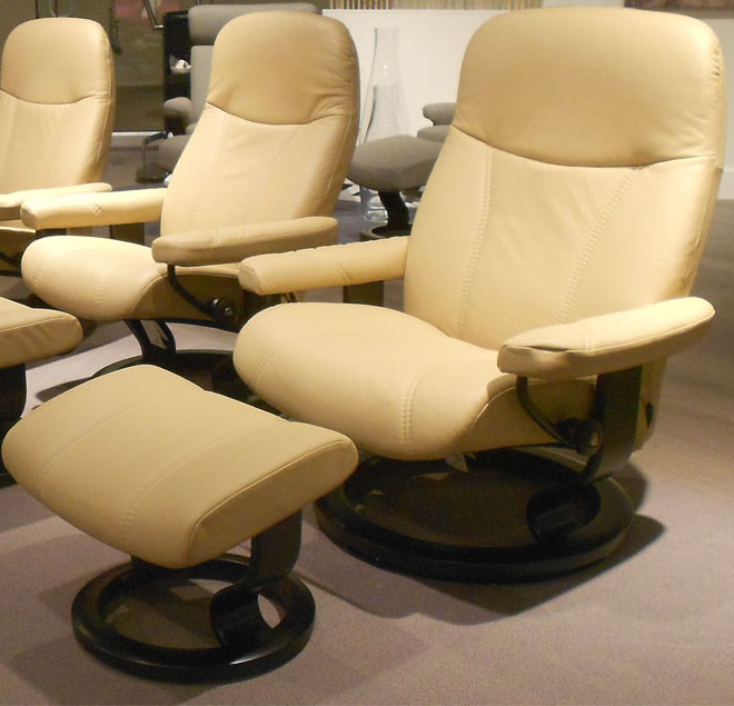 Stressless Diplomat Small Consul Batick Latte Leather By