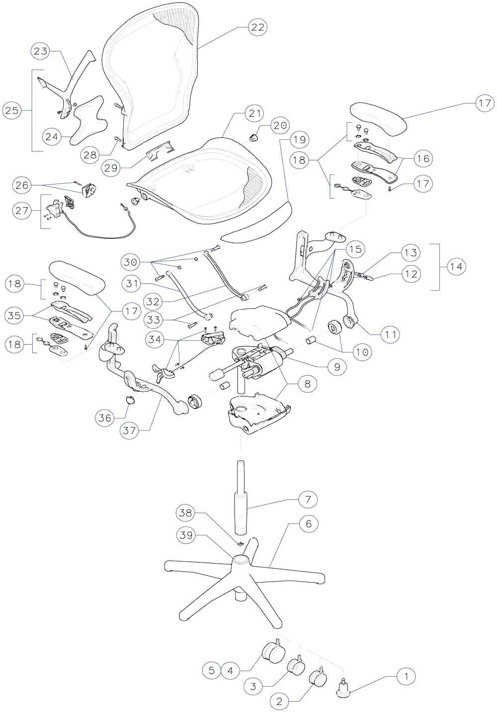 Steelcase Leap Chair Parts Diagram