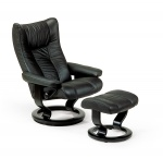 Stressless Eagle Recliner Chairs and Ottoman