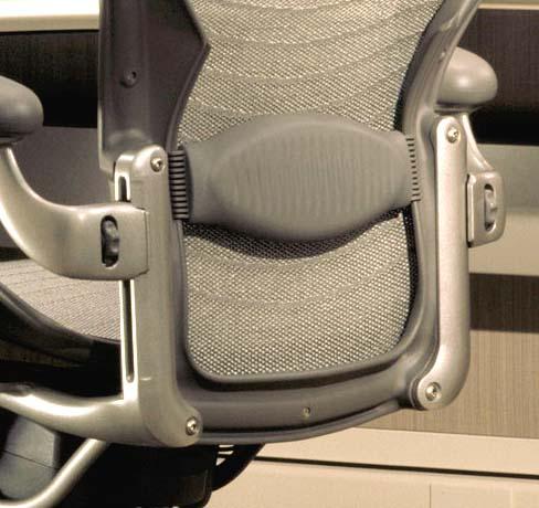 Gray & NEW Herman Miller Aeron Chair Lumbar Lower Back Support Pad Smoke ...